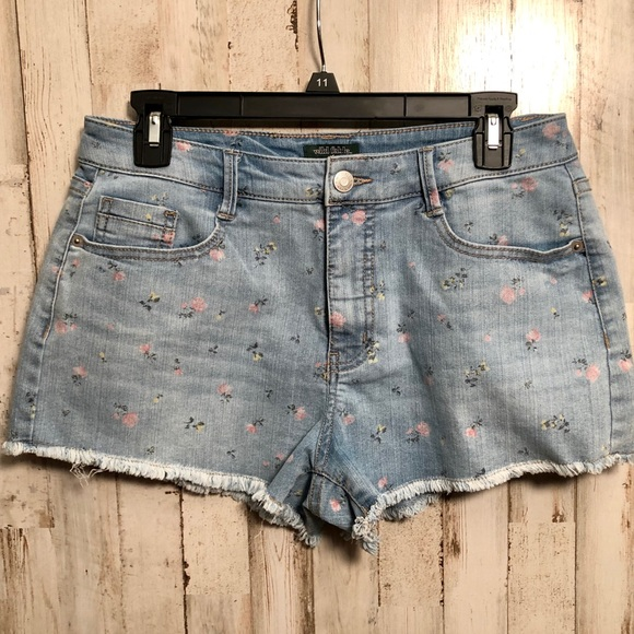 9ad0594950f8 wild fable Shorts   Floral Highrise Cutoff Jean   Poshmark